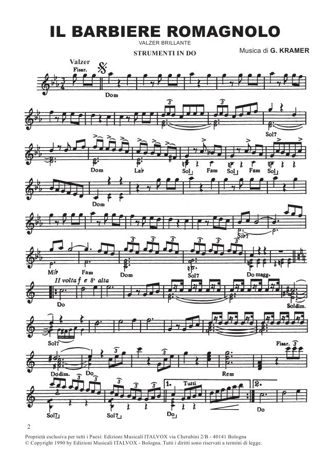 spartiti musicali per fisarmonica
