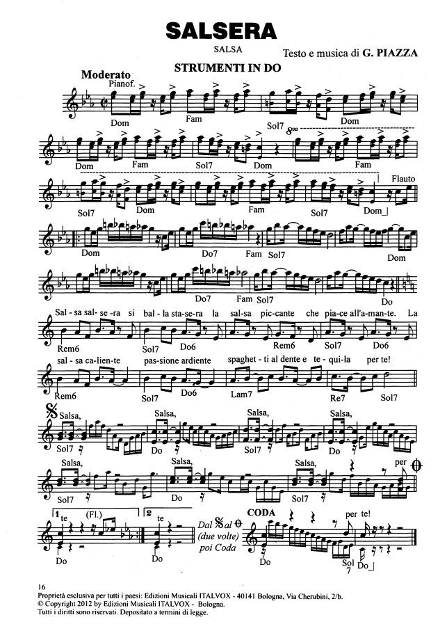 Salsa, Mp3, Midi, Spartito. Musica italiana