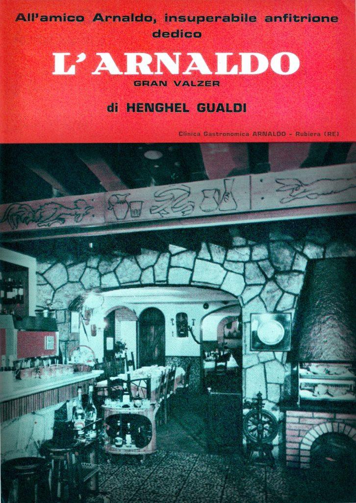 """Copertina del fascicolo. Partitura completa, Henghel Gualdi """"L'Arnaldo"""" gran valzer."""