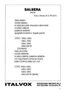 Salsa, Mp3, Midi, Spartito
