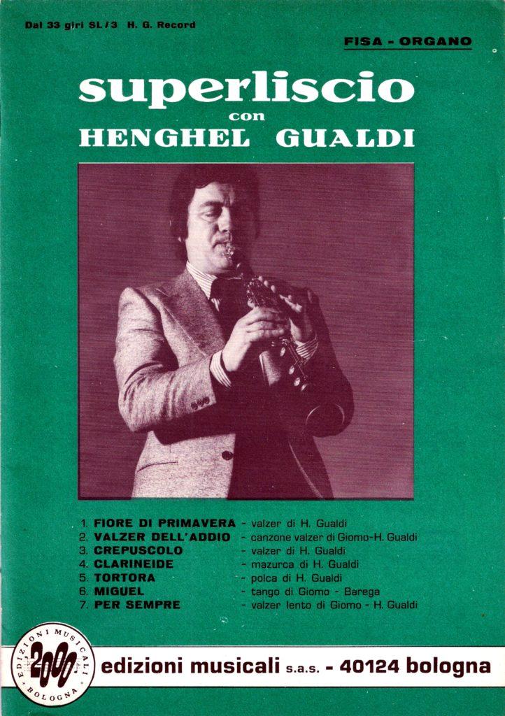 """Henghel Gualdi, """"Clarineide"""". Mazurka per clarinetto. Spartito musicale, partitura originale"""